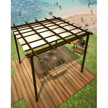 Pergolas en aluminio madera jag tecsol - Pergolas de aluminio para jardin ...